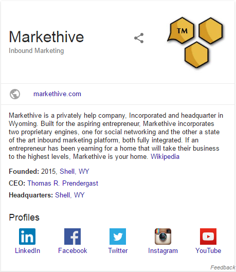 Google Markethive Profile