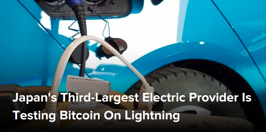 Japan's Third-Largest Electric Provider Is Testing Bitcoin On Lightning